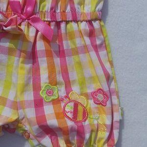 Matching Sets - 2 Girls Summer Sets - Top & Shorts 6/9 Months